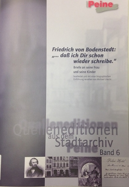 Cover vom 6. Band der Quelleneditionen aus dem Stadtarchiv Peine